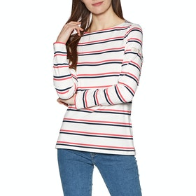 Joules Harbour Womens Top - Cream Red Blue Stripe