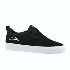 Lakai Riley Hawk Ii Shoes - Black White Suede