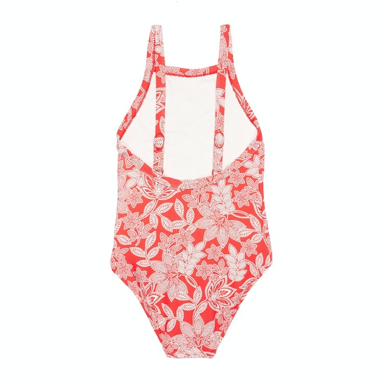 Seafolly Ribbed Tank Ruby Red Girls Swimsuit