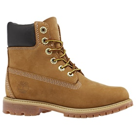 Timberland Icon 6in Premium Waterproof Ladies Boots - Wheat Nubuck