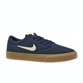 Chaussures Nike SB Charge Suede Slr - Midnight Navy Olive Aura Light Cream