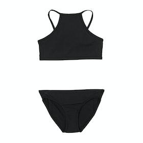 Bikini Rip Curl Girl Luxe Rib - Black