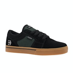 Etnies Barge LS Kids Shoes - Black Green Gum