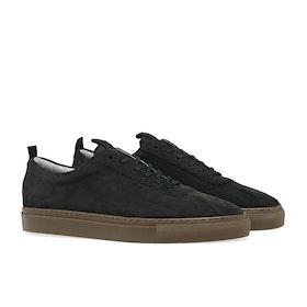 Grenson Sneaker 1 シューズ - Black Nubuck/Gum Sole