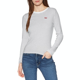 Levi's Baby Women's Long Sleeve T-Shirt - Agnes Stripe Cloud Dancer