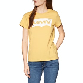 Levi's The Perfect Dames T-Shirt Korte Mouwen - Bw T2 Ochre