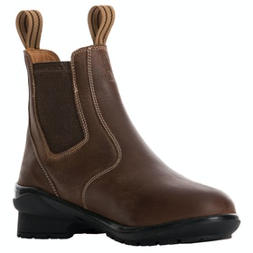 Tredstep Liffey Short Pull On Ladies Country Boots - Mahogany