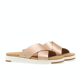 UGG Kari Metallic Sandalen - Rose Gold