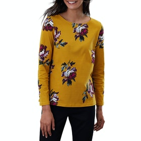 Joules Harbour Print Dames Top - Gold Peony