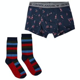 Joules Pud A Sock In It Boxer Shorts - Navy Rugby Players