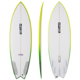 Surfboard Pyzel Astro Pop Futures 5 Fin - White
