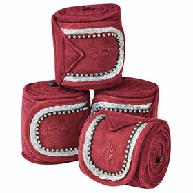 Weatherbeeta Fleece Bling Bandage - Maroon