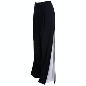 Isabel De Pedro Wide Leg Women's Trousers - Black Cream