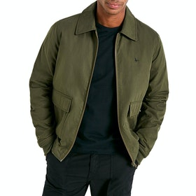 Jack Wills Hatfield Waxed Cotton Bomber Men's Wax Jacket - Olive