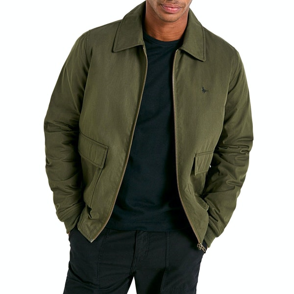 Jack Wills Hatfield Waxed Cotton Bomber Menn Wax Jacket