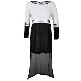 Sukienka Damski Isabel De Pedro Isabel de PedroLong Chiffon Back - Cream Black