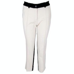 Isabel De Pedro Contrast Women's Trousers - Cream Black