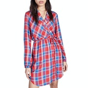 Jack Wills Hedley Checked Wrap Kjole
