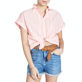 Jack Wills Stowell Stripe Dolman Sleeve Women's Short Sleeve Shirt - Pale Pink
