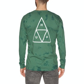 T-Shirt à Manche Longue Huf Triple Triangle Worldwide Tie Dye - Botanical Green