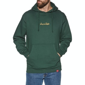 Chocolate Mid Chunk Pullover Hoody - Alpine Green