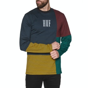 Huf Vilmos Stripe Knit Long Sleeve T-Shirt - Insignia Blue