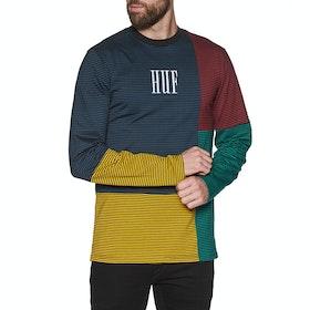 T-Shirt a Manica Lunga Huf Vilmos Stripe Knit - Insignia Blue