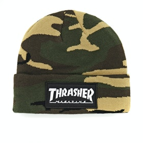 Thrasher Logo Patch Beanie - Camo