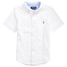 Camisa de manga corta Polo Ralph Lauren Knit Oxford - White