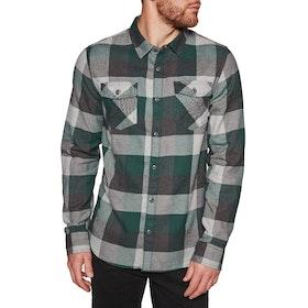 Vans Box Flannel Shirt - Trekking Green Grey Heather