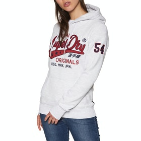 Pullover à Capuche Femme Superdry Real Originals Chainstitch Entry Hood - Ice Marl