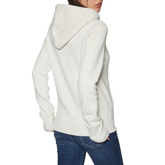Superdry V Logo Floral Infill Womens Pullover Hoody