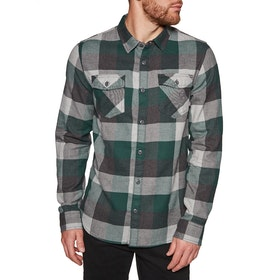 Vans Box Flannel Shirt - Trekking Green Grey Heather