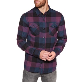 Vans Box Flannel Shirt - Prune Dress Blues