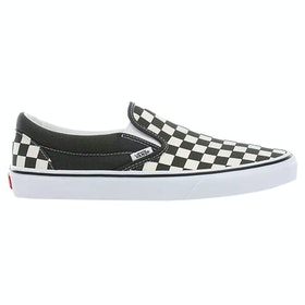 Vans Classic Slip On Checkerboard Trainers - Forest Night True White