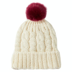 Peregrine Made In England Alpine Aran Beanie - Ecru Red