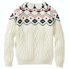 Peregrine Made In England Kendal Funnel Neck Sweater - Ecru
