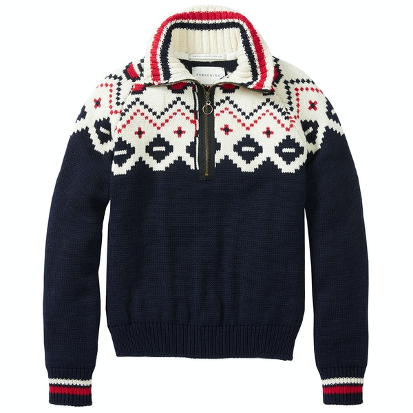 Peregrine Made In England Kendal Zip Neck Sweater