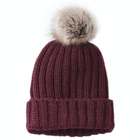 Peregrine Made In England Ribbed Women's Beanie - Berry