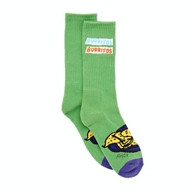 RVCA Hot Fudge Crew Socks - Green
