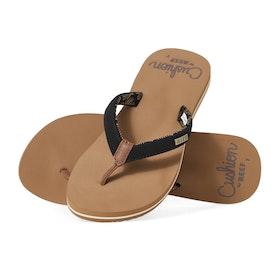 Reef Cushion Sands Womens Sandals - Black Tan
