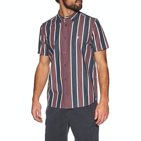 Element Icon Stripes Short Sleeve Shirt - Indigo Stripe