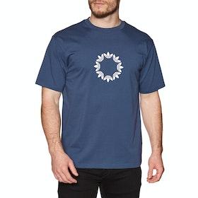 Camiseta de manga corta Adidas Pinwheel - Tech Indigo Off White