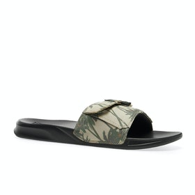 Reef Stash Sliders - Tan Palm