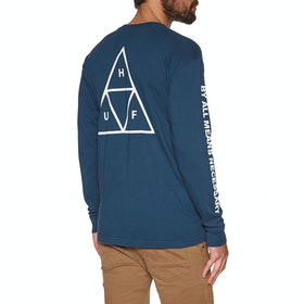 T-Shirt à Manche Longue Huf Essentials Triple Triangle - Insignia Blue