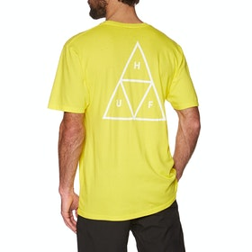 T-Shirt à Manche Courte Huf Essentials Triple Triangle - Blazing Yellow