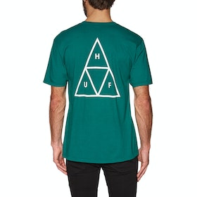 T-Shirt à Manche Courte Huf Essentials Triple Triangle - Quetzal Green