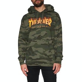 Jersey con capucha Thrasher Flame - Forest Camo