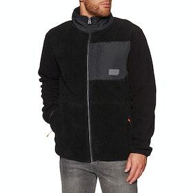 Superdry Sherpa Desert Modern Zip Through Fleece - Black