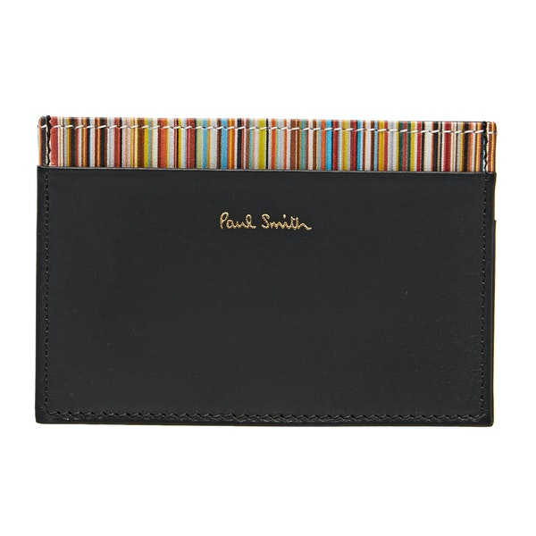 Paul Smith Leather Wallet And Keyring Gift Set